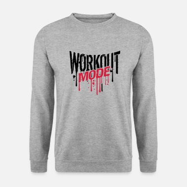 Gym workout fashion graffiti drop gym spray beast cool - Men's Sweatshirt