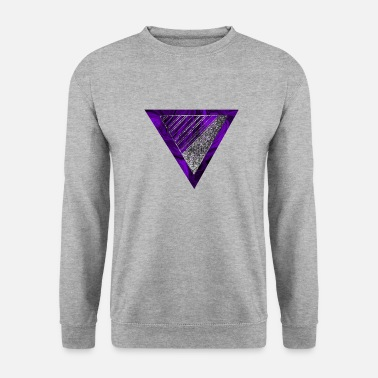 Abstract painting - triangle violet silver black - Men's Sweatshirt