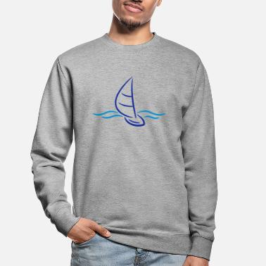 Boad Sport Sailing Boad And Waves Logo - Unisex sweater