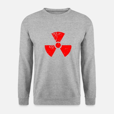 Radioactive Red red. Radioactive, radioactivity symbol - Men's Sweatshirt