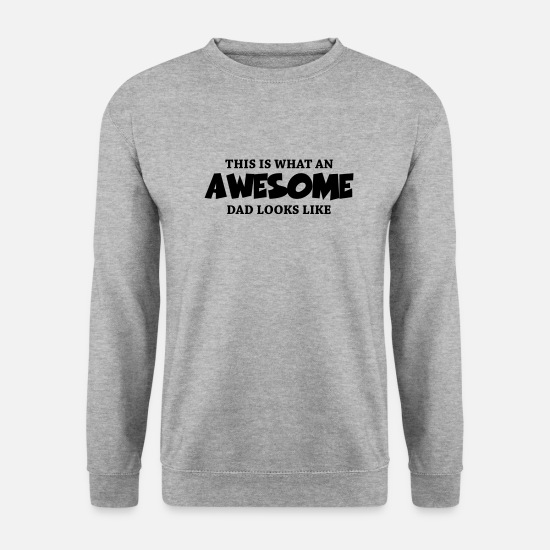 This Sweaters & hoodies - This is what an awesome dad looks like - Mannen sweater witgrijs gemêleerd