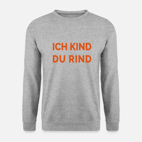 Gentil Sweat-shirts - Je te kid bœuf - Sweat-shirt Homme gris chiné
