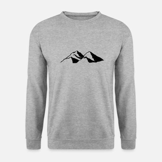 Mountaineering Hoodies & Sweatshirts - Mountain Mountains - Men's Sweatshirt salt & pepper