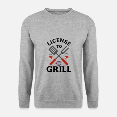 Bratwurst License to barbecue - Men's Sweatshirt