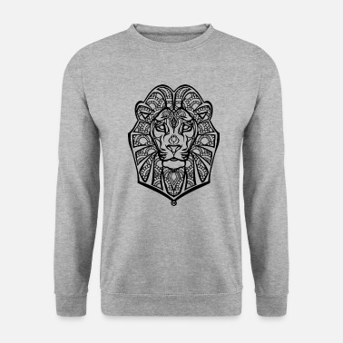 Henna lion - Sweat-shirt Homme