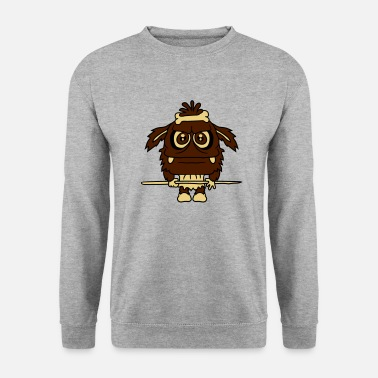Africa aboriginal tribe warrior spear africa grim furry b - Men's Sweatshirt