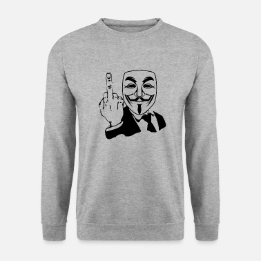 Anonymous fuck anonymous mask - Unisex sweater