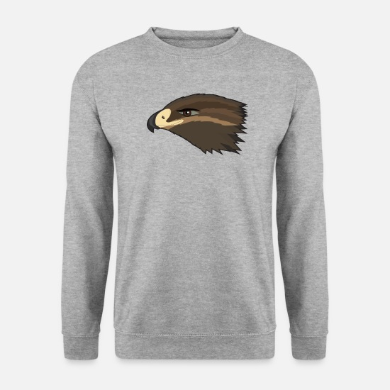 Falcon Hoodies & Sweatshirts - Happy Hawk - Unisex Sweatshirt salt & pepper
