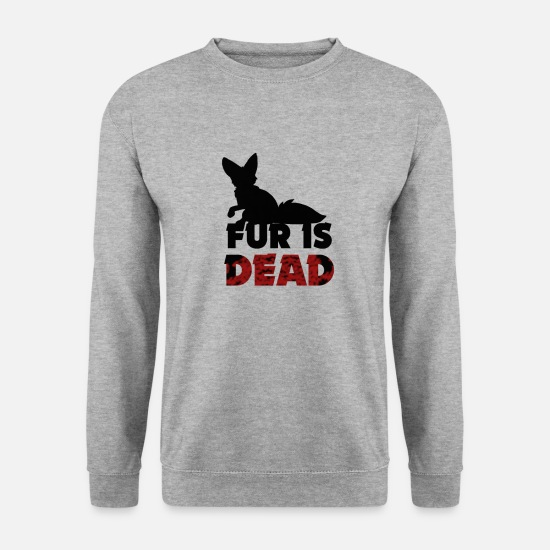 Animal Rights Activists Hoodies & Sweatshirts - Fur is dead - against fur - Men's Sweatshirt salt & pepper