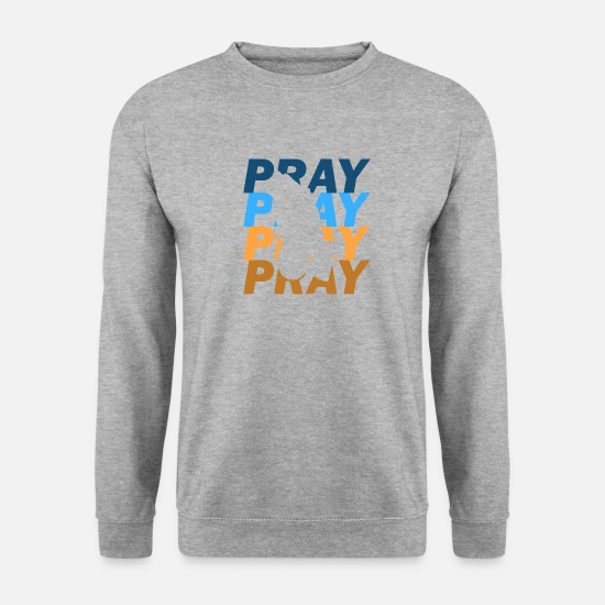 Prayer Hoodies & Sweatshirts - prayer - Men's Sweatshirt salt & pepper