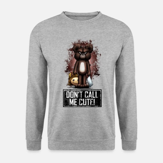 Halloween Pullover & Hoodies - Teddy - Don't Call Me Cute (Color) - Männer Pullover Weißgrau meliert