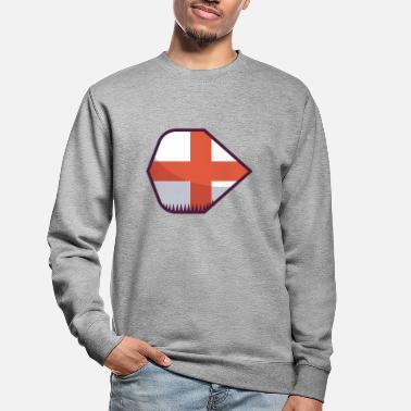 Patriotisk Dart Flight England - Sweatshirt unisex