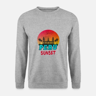 Peru Sunset Vintage / Gift South America - Men's Sweatshirt