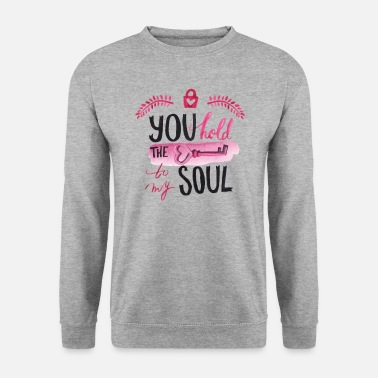 U You hold the key to my soul watercolor - Unisex Sweatshirt