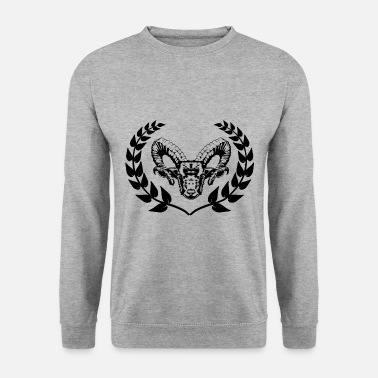 Mutton Sheep laurel wreath Bock sheep mutton - Unisex Sweatshirt