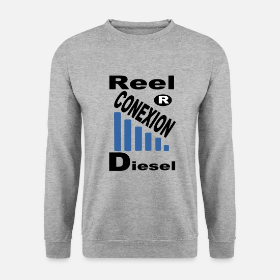 Diesel Sweat-shirts - CONNEXION DIESEL - Sweat-shirt Homme gris chiné