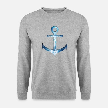 Anchor - water double exposure effect - Men's Sweatshirt