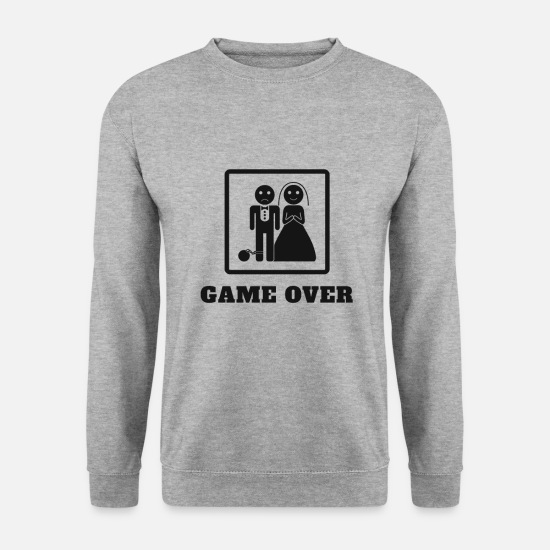 Game Over Sweatshirts & hættetrøjer - Game Over Wedding - Sweatshirt mænd hvidgrå meleret