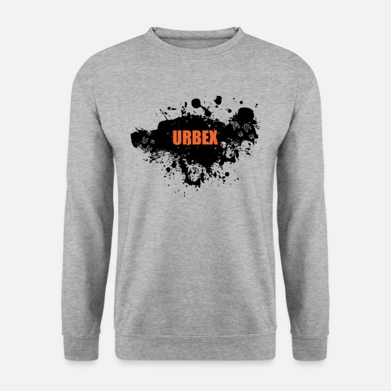 Ruine Sweat-shirts - URBEX - Urban Explorer - Sweat-shirt Homme gris chiné