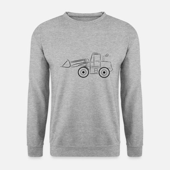 Constructeur Sweat-shirts - Chargeuse sur pneus noir - Sweat-shirt Homme gris chiné