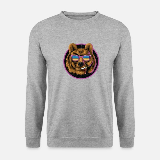 Sunglasses Hoodies & Sweatshirts - Bear, cool - Men's Sweatshirt salt & pepper