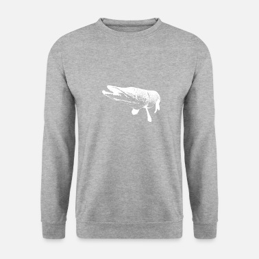 Picture pike - white print - Unisex sweater