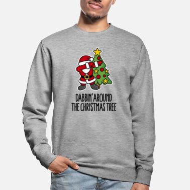 Weihnachten Dabbin' around the Christmas tree - Text - Unisex Pullover