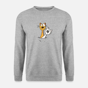 Gato Dos gatos divertidos Camisa - Cat - Kitten -Fun - Sudadera unisex