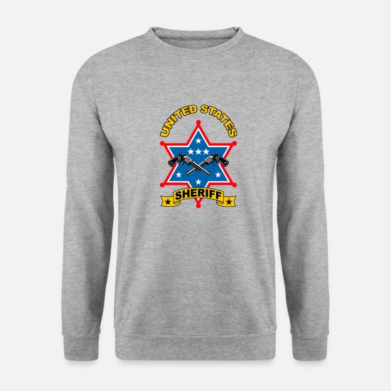 Cowboy Sweat-shirts - sheriff united states - Sweat-shirt Homme gris chiné