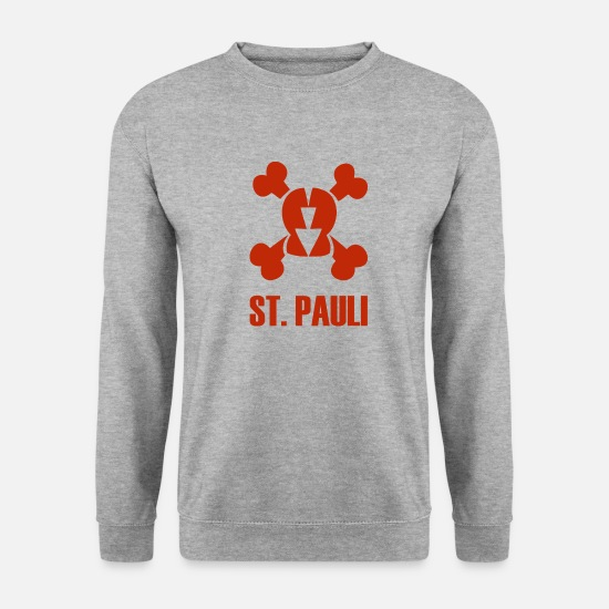 St. Pauli Sweat-shirts - St. Pauli - Sweat-shirt Homme gris chiné