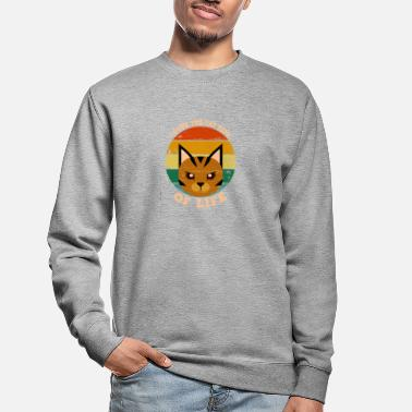 I Love the Cat Side of Life. Katzenseite of Live - Unisex Pullover