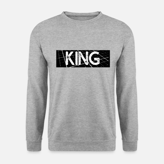 Kings Sweat-shirts - KING - Sweat-shirt Homme gris chiné