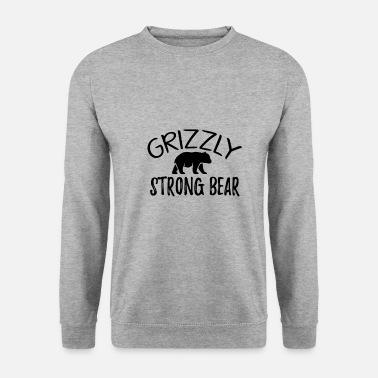 Être Assis Grizzly - Ours fort - Sweat-shirt Unisex