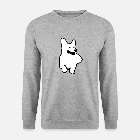 Welsh Hoodies & Sweatshirts - Welsh Corgi - Men's Sweatshirt salt & pepper