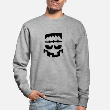 Tourner Joyeux Halloween! T-shirt graphique Monster Frank Face - Sweat-shirt Unisexe