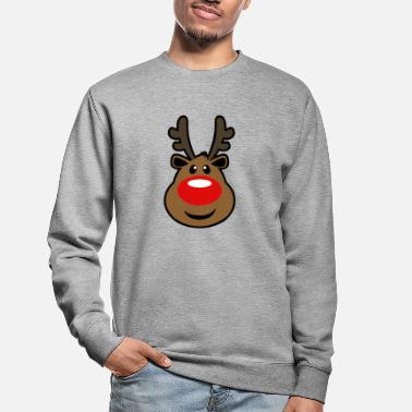 Rudolph, the red nosed Reindeer Christmas design - Unisex Sweatshirt