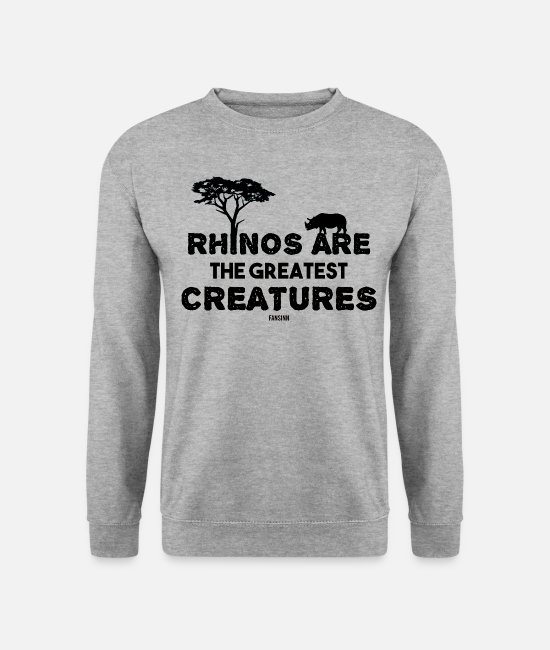 Nature Hoodies & Sweatshirts - World Rhino Day Rhino Africa Safari - Unisex Sweatshirt salt & pepper