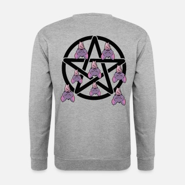 Carpathian Pentagram bat horror Halloween - Men's Sweatshirt