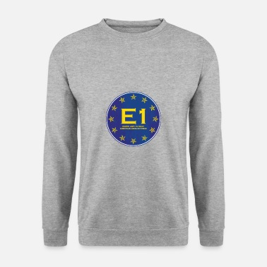 European Long Distance Hiking Trail E1 North Cape to Sicily - Long Distance Hiking - Unisex Sweatshirt