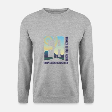 European Long Distance Hiking Trail E8 - Dursey Head to Istanbul - Europe - Unisex Sweatshirt