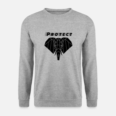 Elephant T Shirt Charging Elephant Illustration - Unisex Sweatshirt