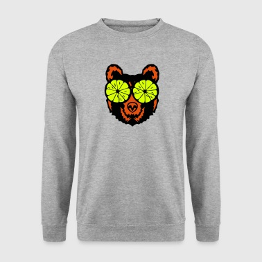 Bear eye drawing lemon drawing - Men's Sweatshirt