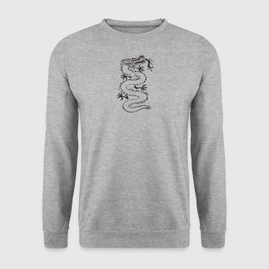 Mythical Chinese dragon - Men's Sweatshirt