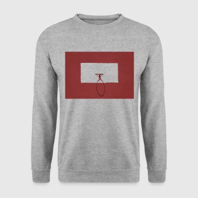Basketbal hoepel sport rood - Mannen sweater