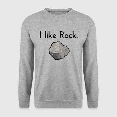 j'aime le rock - Sweat-shirt Homme
