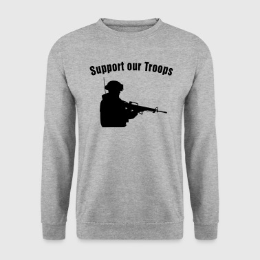 Support our Troops / soldier - Sweat-shirt Homme
