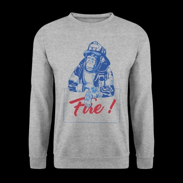 Chimpanzee Fire Monkey - Men's Sweatshirt