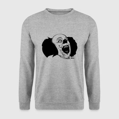 Evil Clown Black & White - Männer Pullover