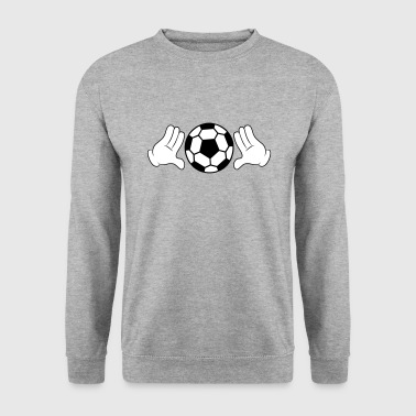Comic Hands with Football - Men's Sweatshirt