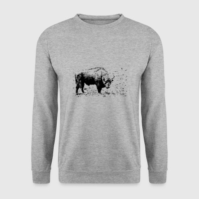 Bison - contrast - Men's Sweatshirt